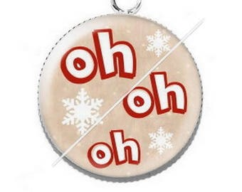 Pendant cabochon resin Merry Christmas happy holidays 3