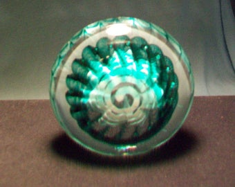 Trout Studios Virginia Green White Paperweight