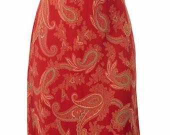 Cinnamon Paisley (Midi) Dress