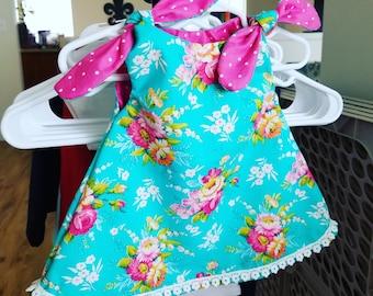 Girls Dress // Spring Dress // Summer Dress // Floral Dress // Knot Tie Dress // Baby Girl Dress