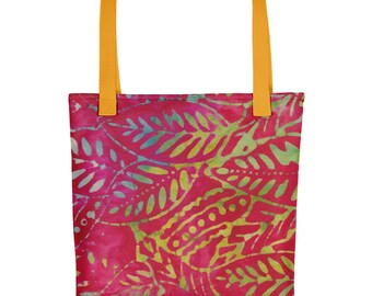 Tropical Sunset Tote Bag Beach Bag Shopping Bag Craft Bag Version 1