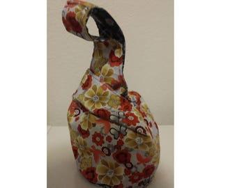 Reversible Japanese knot bag, sock knitting, project bag,