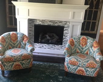 Ikat accent chairs