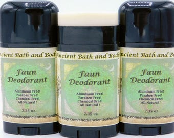 Faun Deodorant, Aluminum Free Deodorant, Natural Deodorant, Artisan Deodorant, Chemical Free Deodorant, Vegetarian Deodorant