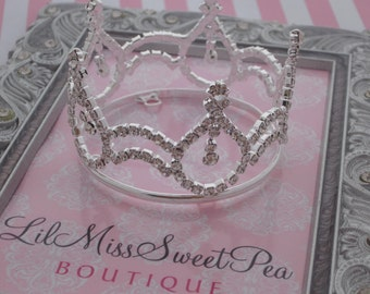 SILVER Rhinestone Baby Crown for newborn or maternity photo shoots, cake topper, photographer, bebe foto, infant, by Lil Miss Sweet Pea