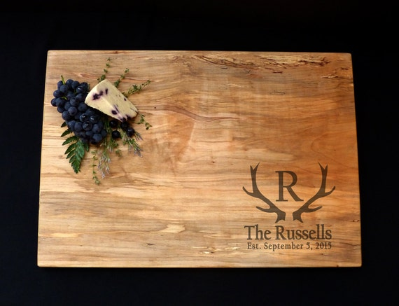 Extra Large Cutting Board 24x14 - Gift for Him - Outdoorsmen Gift - Rustic Gift for Couple - Gift for Newlyweds - Personal Gift for Dad