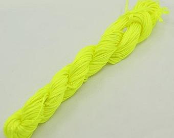 Nylon thread 1mm neon yellow 24m