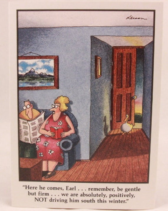 Vintage 1990 gary larson far side greeting card and envelope vintage 1990 gary larson far side greeting card and envelope earl and the duck bookmarktalkfo Images