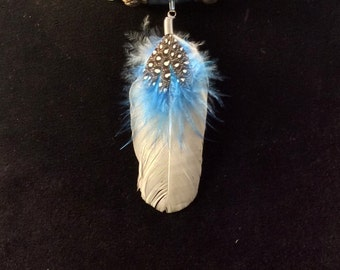 Feather & Leather Necklace. Dream Catcher or Single Feather. 14.50 ea