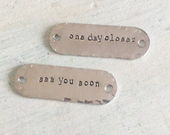 Deployment Gift. Military dog tags. One day Closer. See you soon. Deployment care package. Gift for husband. Soldier Gift. Long Distance
