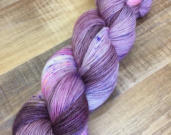 Hand Dyed Superwash Merino Nylon Titanium Sock Yarn, 100g/3.5oz, 'Snuff'
