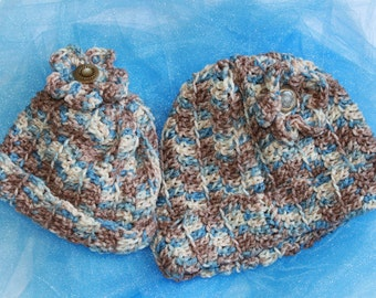 Matching Mommy-Daughter Crocheted Hats