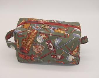 Golf Bag, Golfer's Dopp Kit, Golf Travel Bag, Vintage Golf Bag, Ditty Bag, Toiletry Bag, Shave Kit, Cosmetics Bag, Wet Sack, Golf Gifts