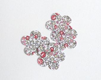 Lot 50 confetti flower liberty eloise pink baptism, communion, wedding, anniversary hand made