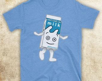 Inspired By Blur Coffee And TV Milk Carton British Britpop Band Unofficial Mens T-Shirt