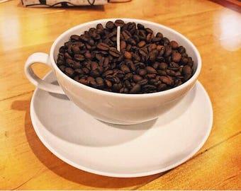 French Vanilla Coffee Mug Candle