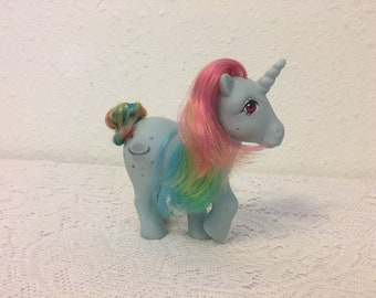 MOONSTONE, Rainbow Ponies, Unicorn Pony, My Little Pony, vintage G1 My Little Pony, Friendship is Magic