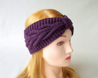 Cable knit headband for women Winter headband ear warmer Knit turban headband Women head bands Adult Hand Knitted head band Christmas gift
