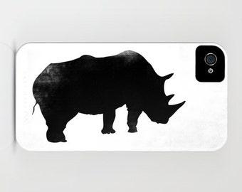 Rhino on Phone Case - rhino, black rhinoceros,  Samsung Galaxy S7, iPhone 6S, iPhone 6 Plus, Gift Ideas, Rhino Gifts, iPhone 8
