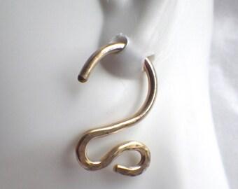 12 Gauge 14/20KT Gold Filled Swirly Earrings