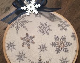 Snowflake Winter Ornament -wall decor