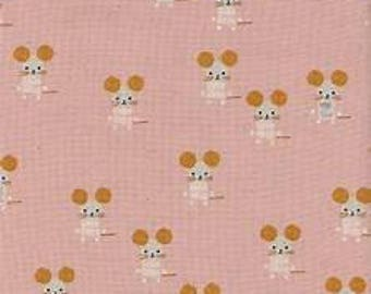 Sunshine by Alexia Abegg for Cotton & Steel - Little Friends - Pink - 1/2 Yard Cotton Quilt Fabric