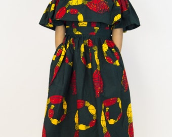 Ankara clothing, off shoulder top co-ord, off shoulder top, maxi skirt, ankara skirt, ankara top, cold shoulder off, top, retro skirt,