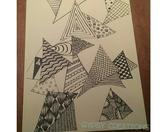 Zentangle Triangles Art