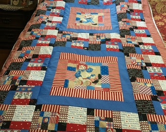 Raggedy Ann and Andy quilt handmade