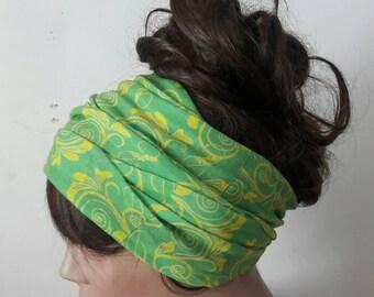 SALE! Floral Headband Yoga Headband Fitness Headband Running Headband Tube Bandana Earwarmer Festival Dreadlock Headband