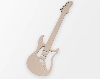 Wooden Shape Guitar   Guitar Cut Out, Guitar Wall Art, Home Decor, Wall