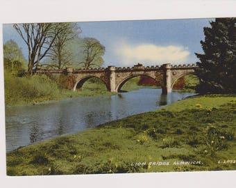 Lion Bridge Alnwick Northumberland 2052 Valentine's Postcard Postally Unused