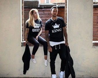 King Queen Couples Shirts, King and Queen Couples Shirt Set, King and queen shirts, 100% cotton, UNISEX
