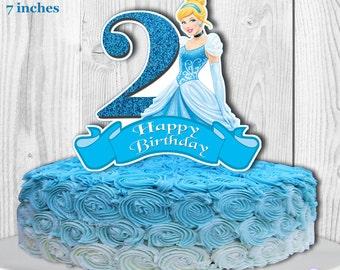 CINDERELLA Cake Topper Cinderella Centerpiece Disney