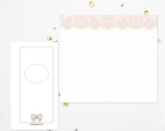PERSONAL TN Nude Lace Dot Grid