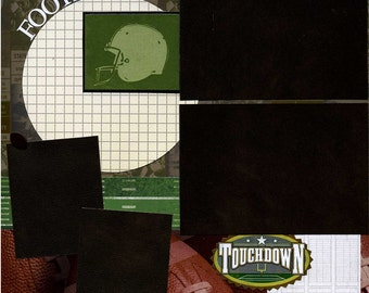 Premade Football Scrapbook Page