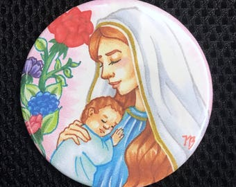 Mother of Jesus Pin