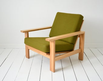 Mid Century, Retro, Danish, Modern Armchairs designed by Hans J. Wegner and made by Getama