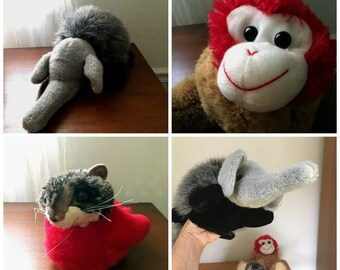 SALE! / stuffed animal / plushie  /  puppet / plush puppet  / stuffed animal lot / recycled stuffed animal
