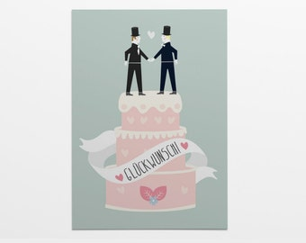 Greeting card with envelope: Gay wedding