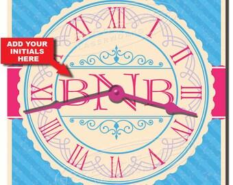 Monogram Personalized Kitchen Wall Clock