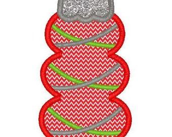 Christmas Ornament Applique 1 Machine Embroidery Design