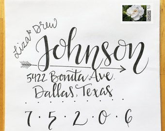 Wedding Calligraphy - Custom Hand Drawn Lettering and Styles: Gardenia