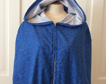 Blue Tie Dye Hooded Cloak - Limited Edition**