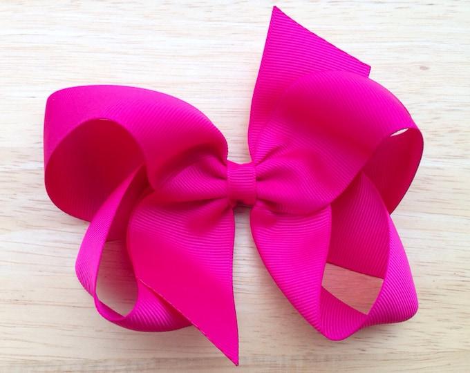PICK 6 hair bows - 5 inch hair bows, bows, hair clips, hair bows for girls, baby bows, toddler bows, girls bows, big hair bows, hairbows