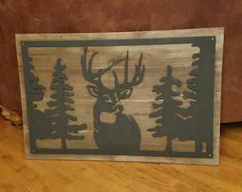 Rustic Deer Art