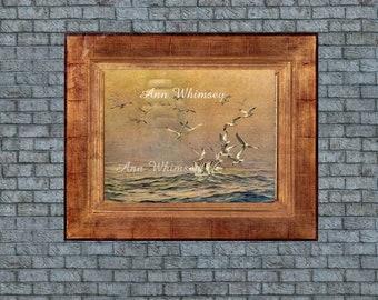 "Family Room Art, Living Room Art, Master Bedroom Art, Guest Room Art, Ocean Sea Art Print ""Ghost Ship"" #150"