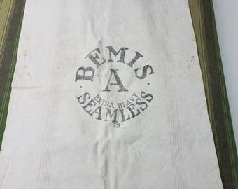 Vintage Primitive Canvas Bemis Feed Sack