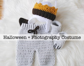Where the Wild Thing Baby Costume, Baby Costume, Max Halloween Costume, Max Photography Outfit, Max the Wild, Newborn Photography Outfit