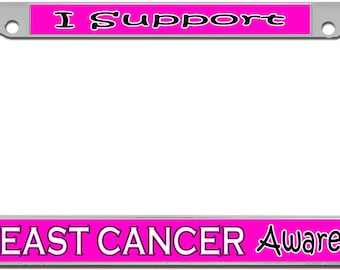 Breast Cancer Awareness Support License Plate Frame
